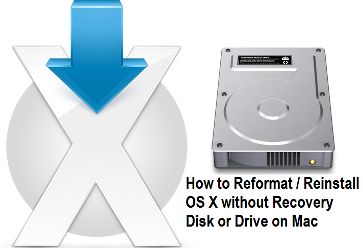 How to Reformat, Reinstall OS X without Recovery Disk or Drive on Mac