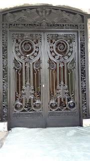 desain, Pintu, Pagar, Besi, Tempa, Rumah, Mewah, Klasik