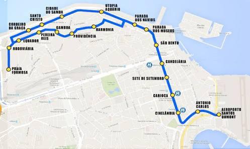 Linha 1 do VLT Carioca inaugura mais duas estações