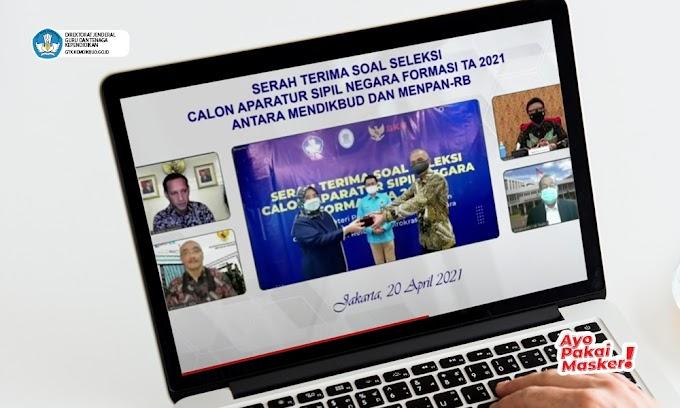 Kemendikbud Menyerahkan Soal Kompetensi Dasar Calon Aparatur Sipil Negara 2021 kepada Panselnas