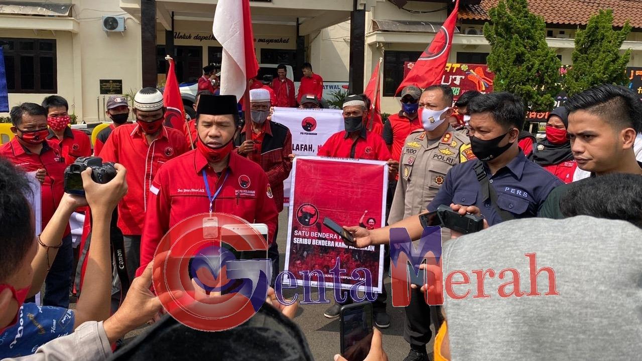 Kecam Pembakaran Bendera PDI P, DPC PDIP Lampura Sambangi Maplres