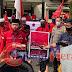 Kecam Pembakaran Bendera PDI P, DPC PDIP Lampura Sambangi Mapolres