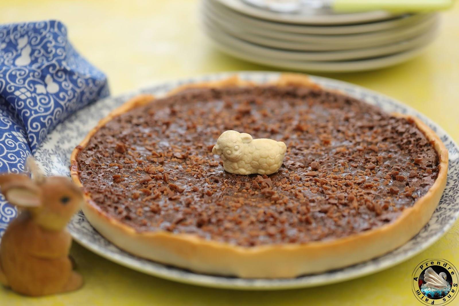 Tarte croustillante chocolat caramel au beurre salé