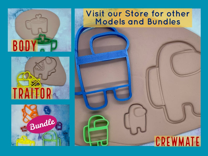 Among Us Crew Mates Crewmate Cookie Cutters
