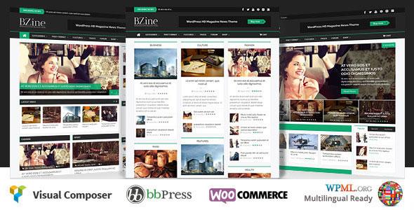Bzine v2.0 - Chủ đề Tạp chí WordPress