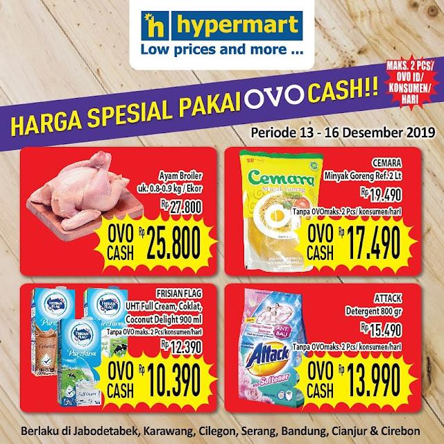 Hypermart - #Promo Katalog Harga Spesial Pakai OVO Cash (s.d 16 Des 2019)