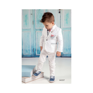baptism suit in white color