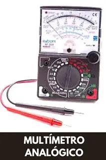 como usar un multímetro analógico