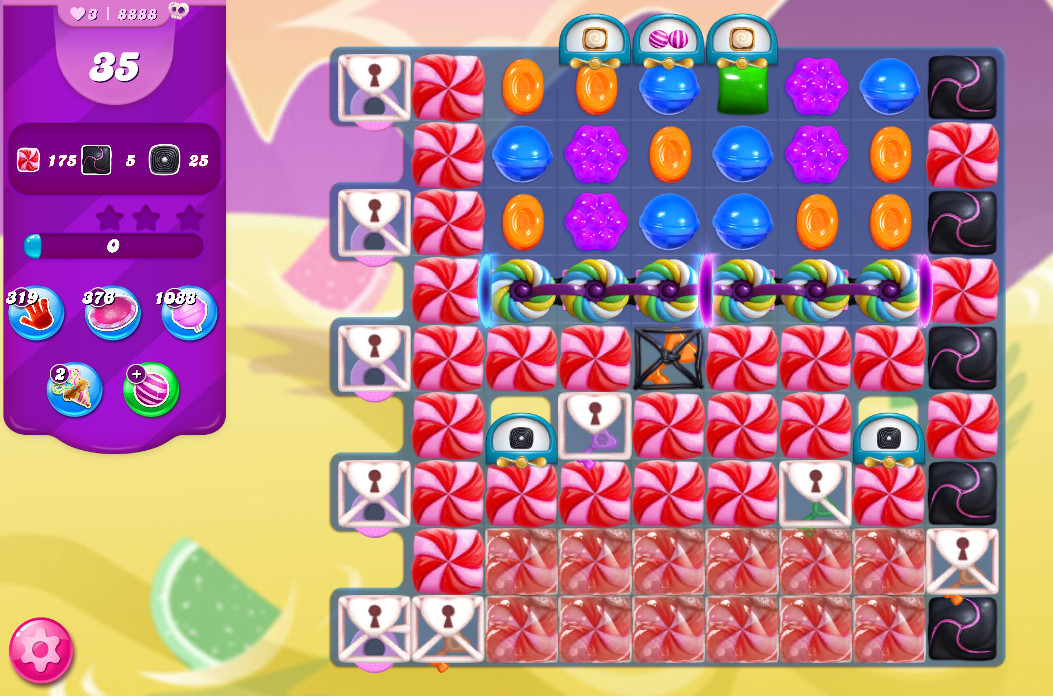 Candy Crush Saga level 8888