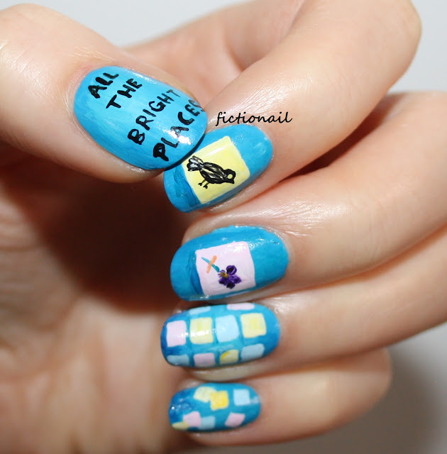 All The Bright Places Book Cover Nail Art