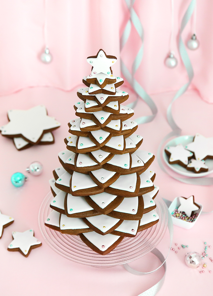 Gingerbread Star Cookie Tree Sprinkle Bakes