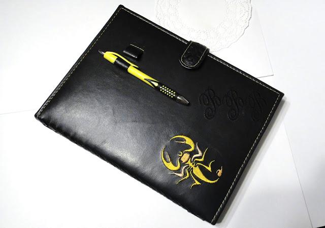 Датированный ежедневник кожа - подарок мужчине Скорпиону. Блокнот ручной работы, кожаный ежедневник 2020 год. Доставка курьером или почтой