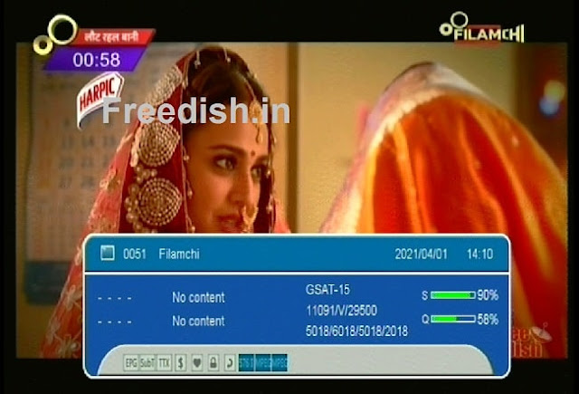 Filamchi Channel Frequency and Channel Number on DD Free dish