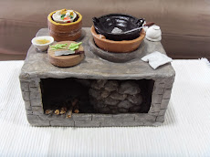 My handmade miniature ancient kitchen