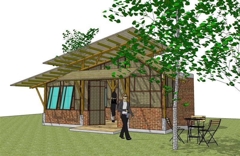 Kebun Bambu Rumah  Bambu Pilihan yang cantik