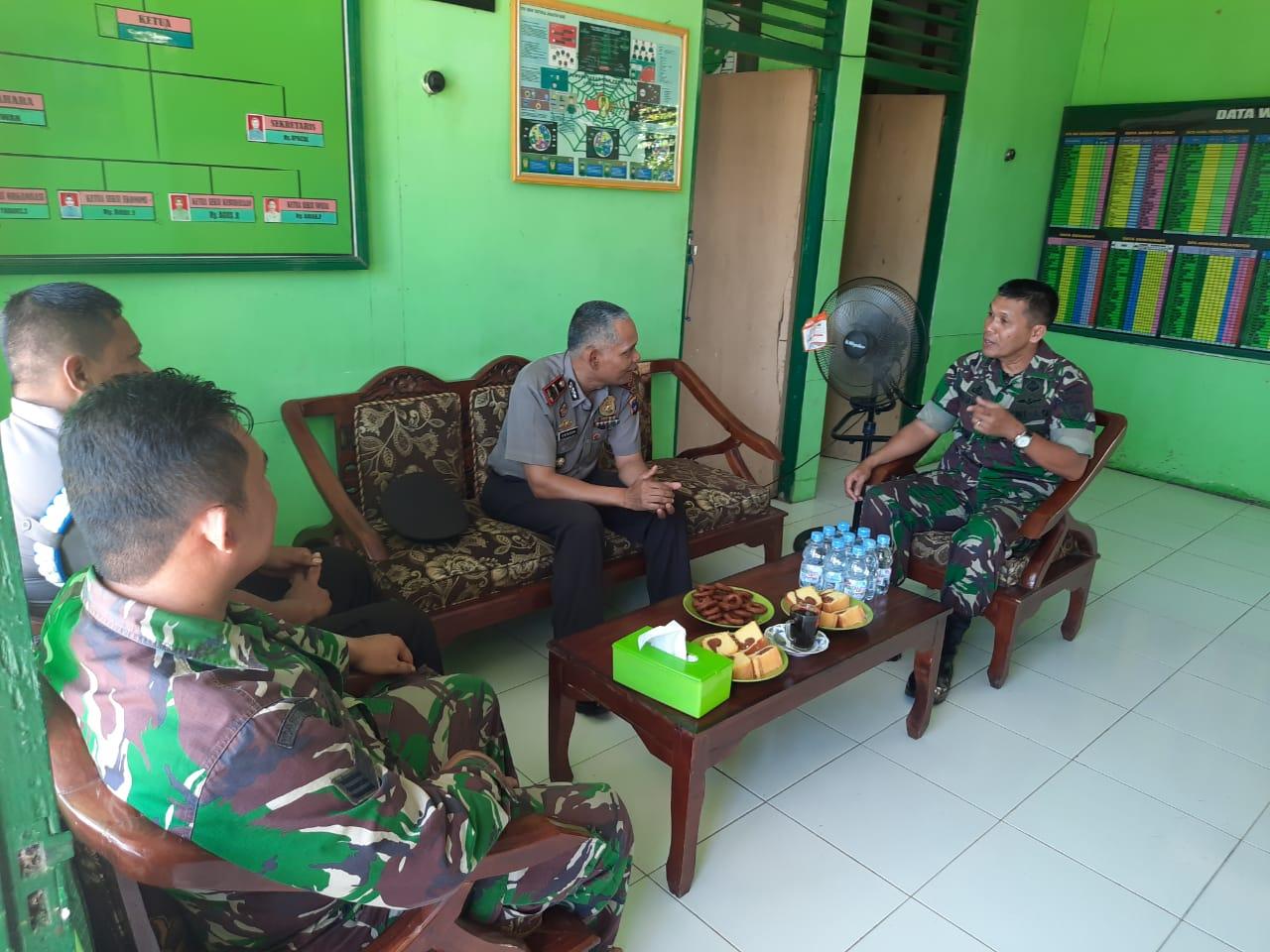 Kapten Inf Subhan Apresiasi Kunjungan Kapolsek Birayang Di Koramil Birayang