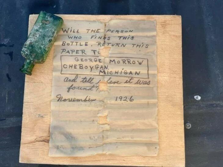 Capitana de barco recupera mensaje en botella de 1926