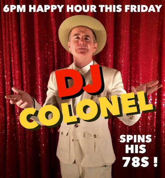 The Colonel spins country 78s Friday at 6pm