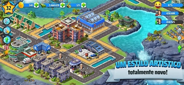 City Island 5 - Simulação e Gestão de Construções. Construção de cidade