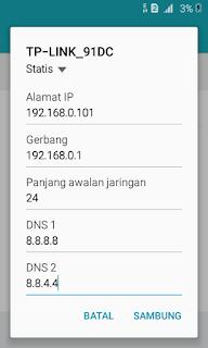Mendapatkan alamat IP