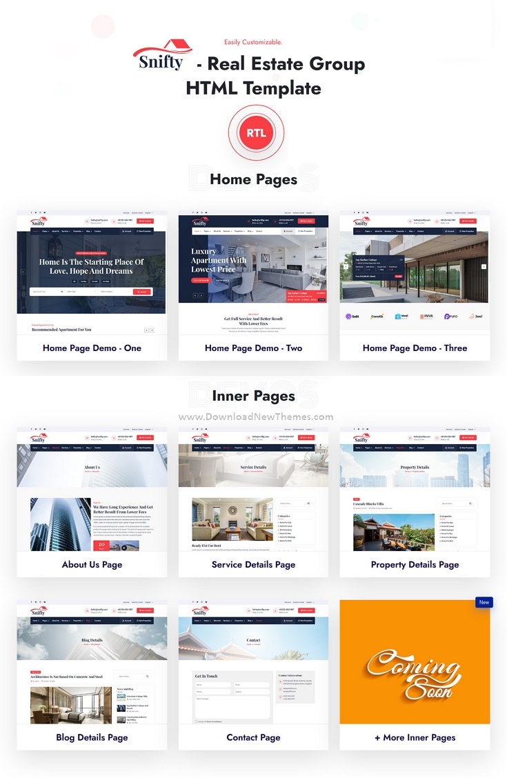 Real Estate Group Website Template