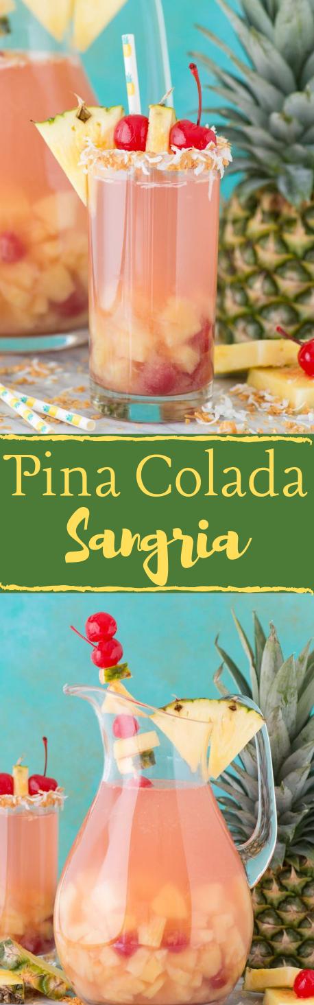 Pina Colada Sangria #sangria #cocktail #part #healthydrink #fresh