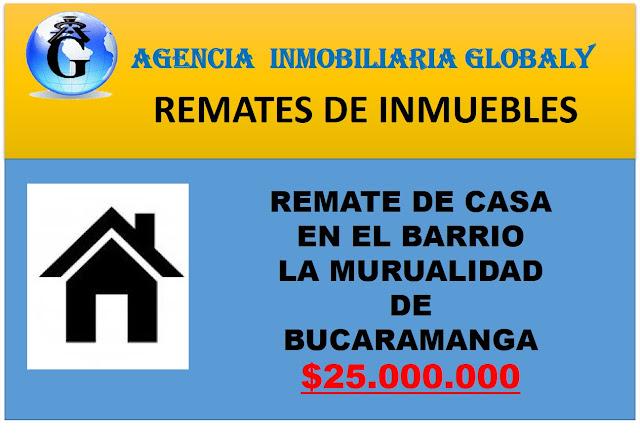 remate casa en la mutualidad Bucaramanga