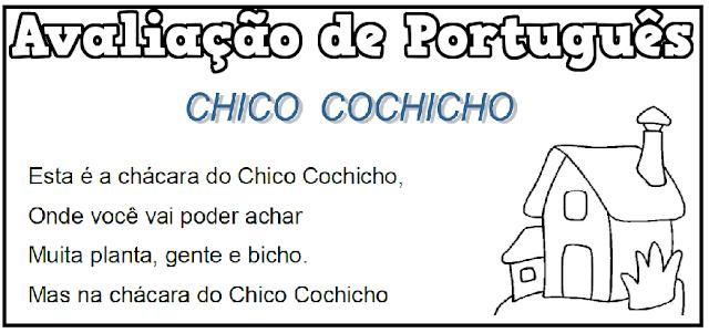 BAIXE EM PDF -  Avaliação de Português 3º ano