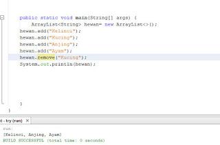 menambahkan elemen pada arraylist java