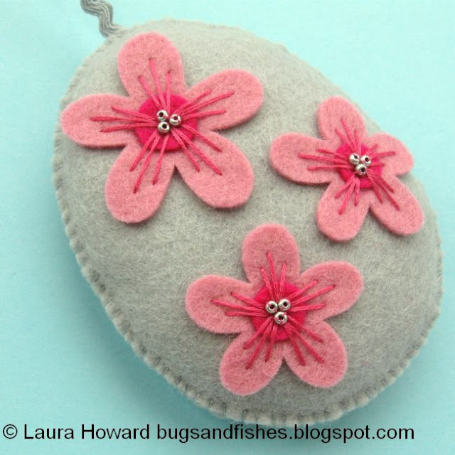 the finished cherry blossom ornament