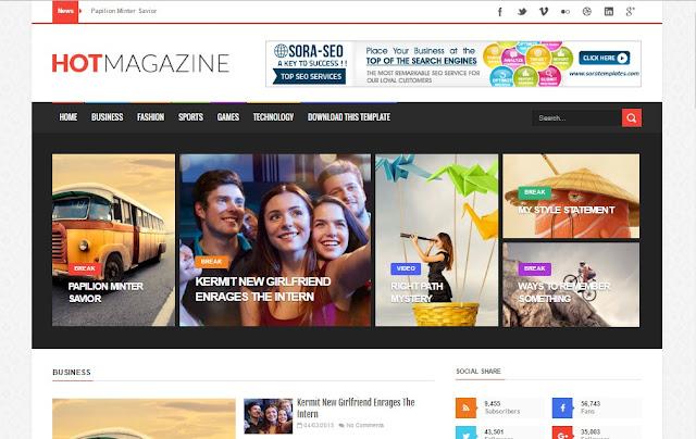 Hot-Magazine-Blogger-Template