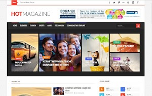 Hot Magazine Blogger Template