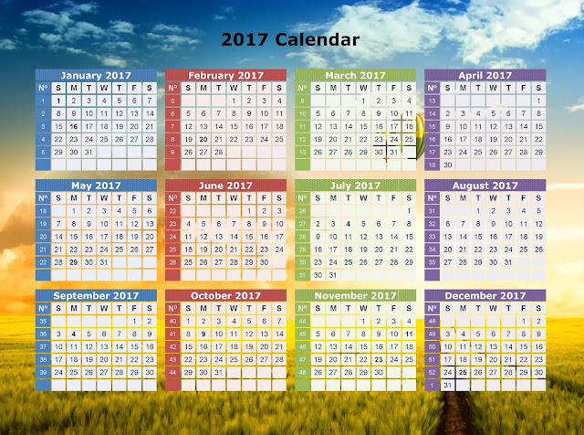 Happy New Year 2017 Calender