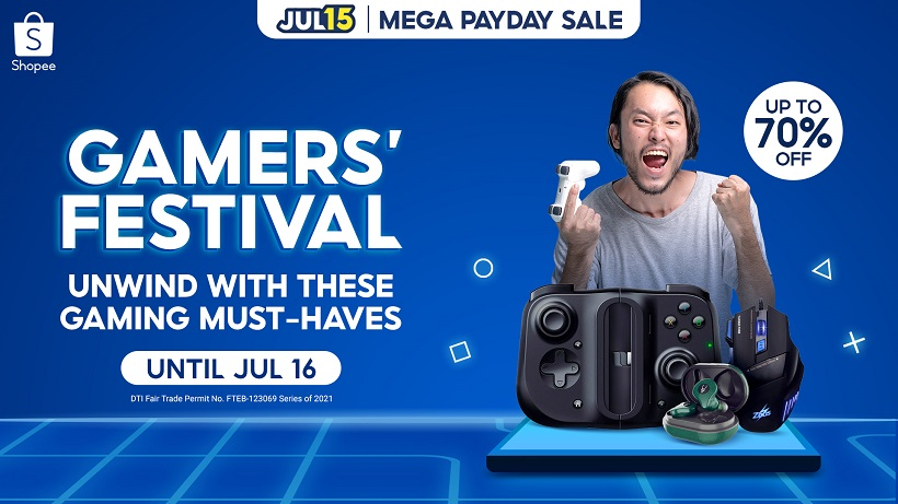 Shopee 7.15 Mega Payday Sale and Gamers' Festival offer great deals on Gaming Accessories!