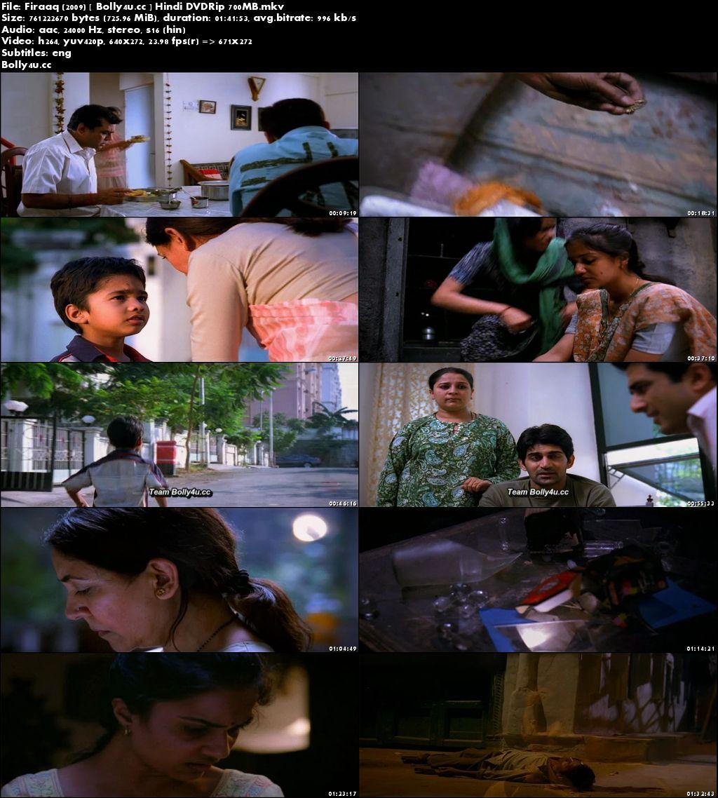Firaaq 2009 DVDRip 700MB Hindi ESub x264 Download