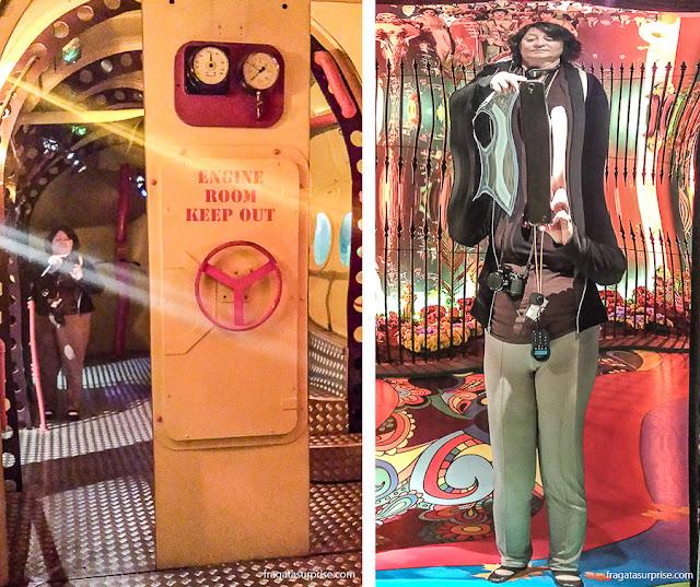 Exposição Yellow Submarine no museu The Beatles Story, em Liverpool