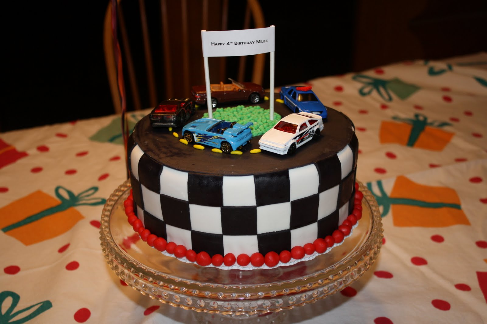 Michelle S Cakes Cookies And Cupcakes Race Car Birthday Cake