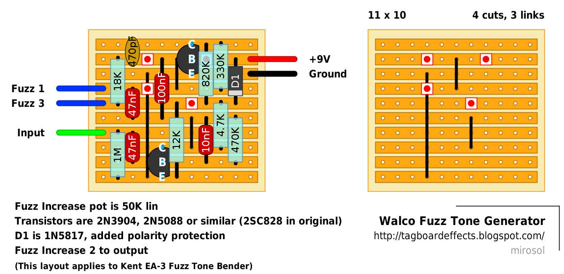 guitar fx layouts walco fuzz tone generator. Black Bedroom Furniture Sets. Home Design Ideas