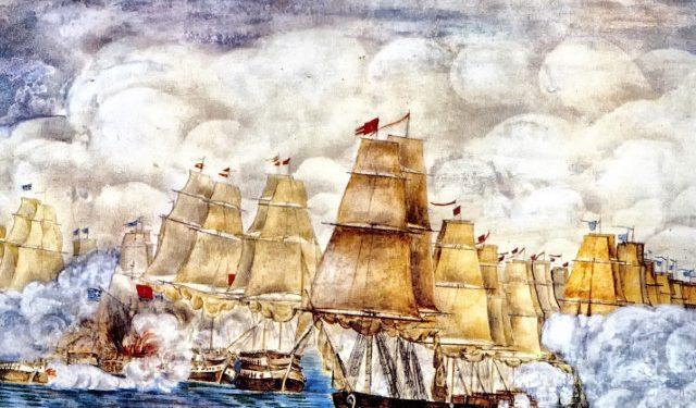 8 Σεπτεμβρίου 1822: Ο ελληνικός στόλος καταναυμαχεί την τουρκοαιγυπτιακή αρμάδα στο στενό των Σπετσών