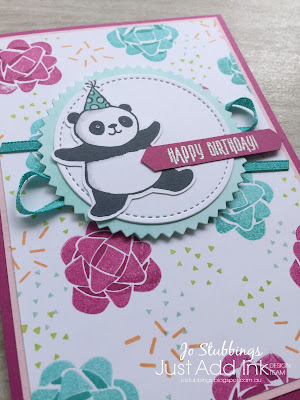 Jo's Stamping Spot - Just Add Ink Challenge #400 using Picture Perfect Birthday and Party Pandas by Stampin' Up!