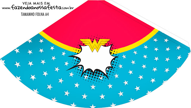 Wonder Woman Afro Free Party Printables.