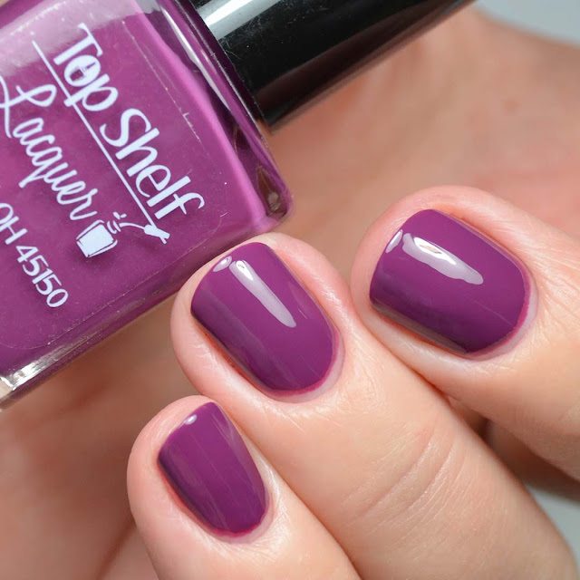 purple nail polish swatch
