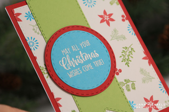 Christmas Wishes Card by Juliana Michaels featuring Gina K Designs Home for the Holidays StampTV Kit