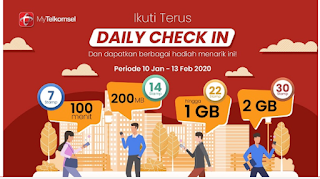 Daily Check In di My telkomsel