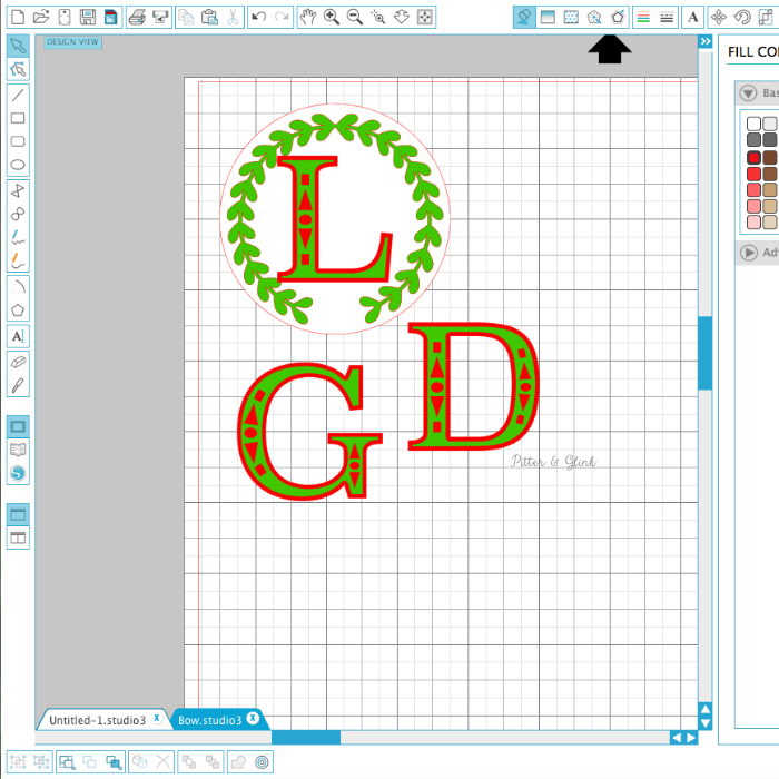 Creating a Layered Monogram in Silhouette Studio