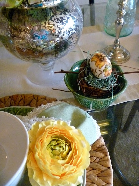 Inspiration for an Easter Tablescape - pull our the bunnies and the eggs, it's Easter time and we have a table to set! - Slice of Southern