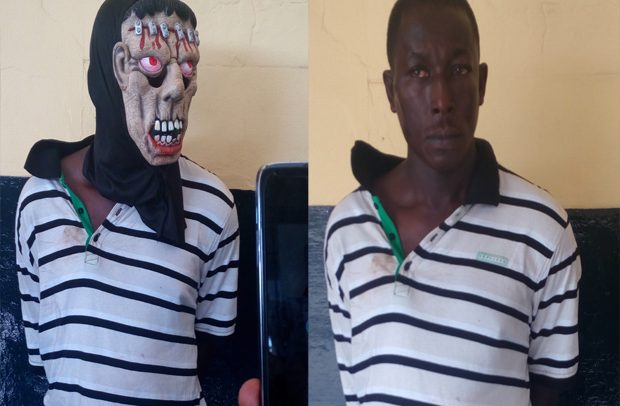 'Killer' Grabbed With Weapons And Mask
