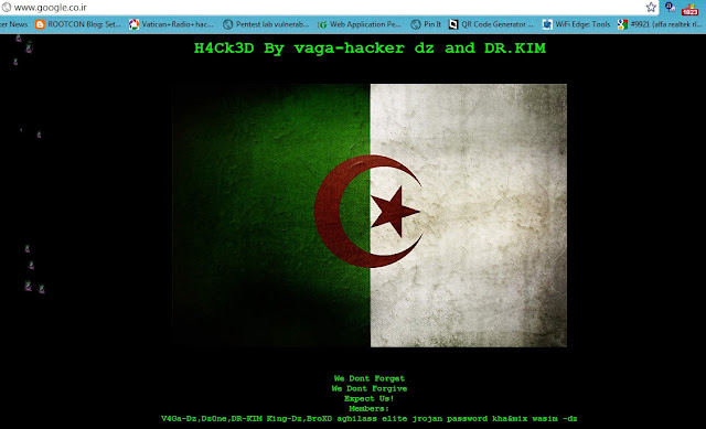 Fake Google Iranian domain defaced by Algerian Script Kiddies
