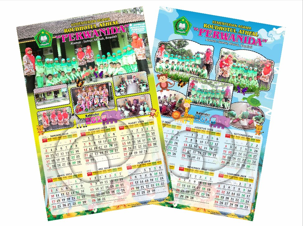 Cetak Kalender 2017 Kalender Dinding 2 Lembar MURAH ...