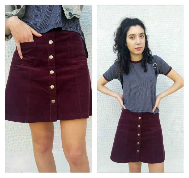 Spring Skirt 3: How to wear a winter skirt in spring - http://theblushfulhippocrene.blogspot.com